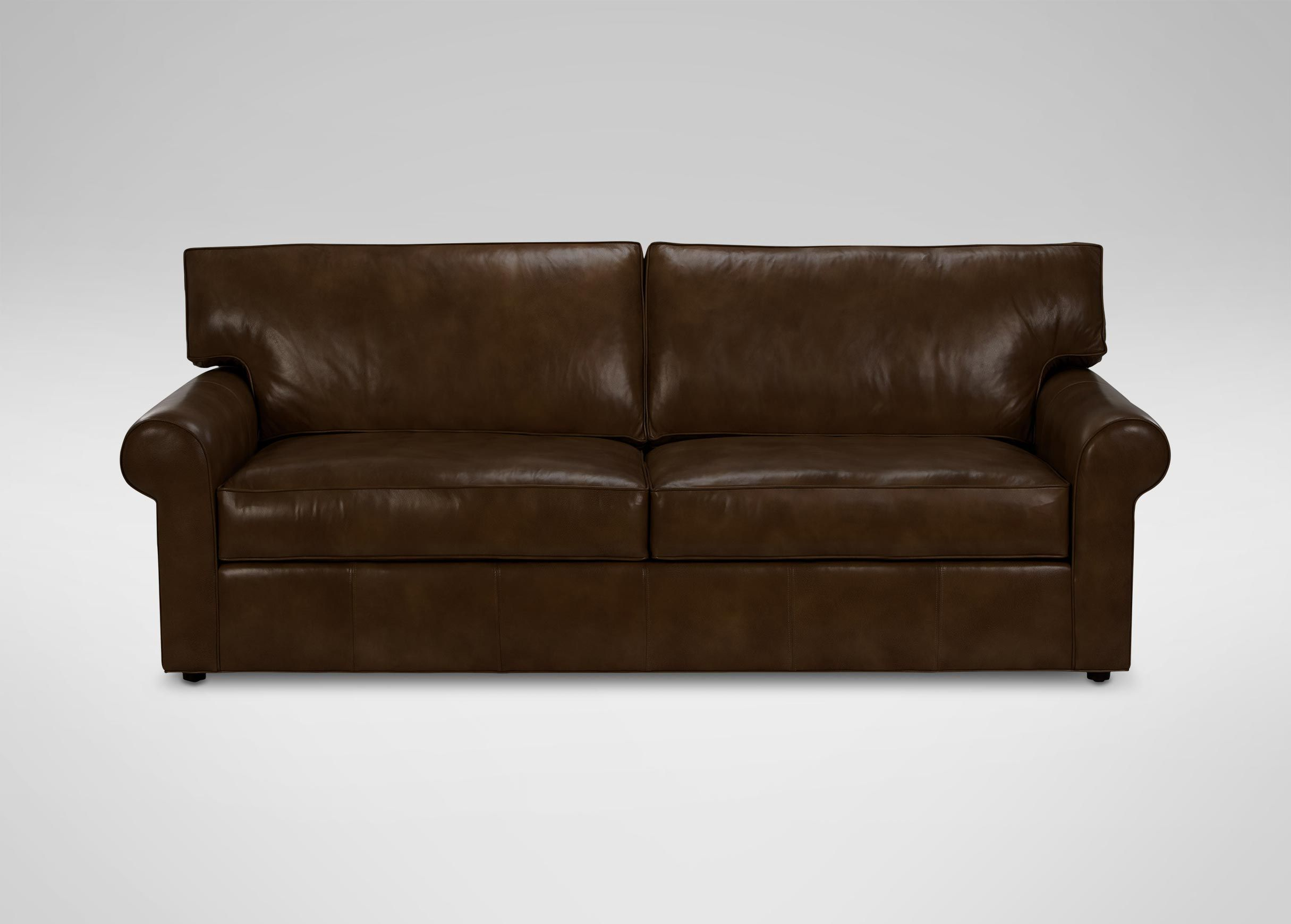 Gentil Retreat Roll Arm Leather Sofa, Quick Ship | Sofas U0026 Loveseats