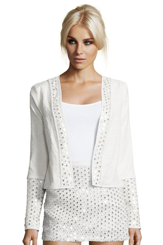 760ec2016 Boutique Myla Sequin Trim Edge To Edge Jacket | Fashion | Fashion ...