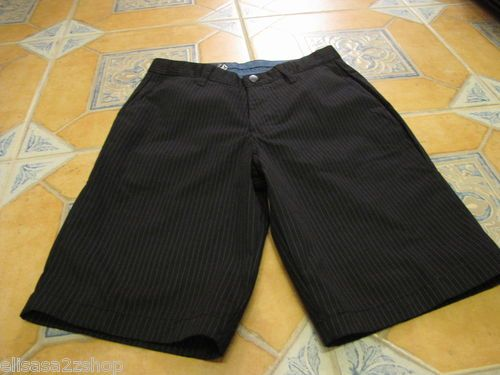 Men's Volcom walk casual shorts pin stripe black surf skate brand 38 NEW NWT