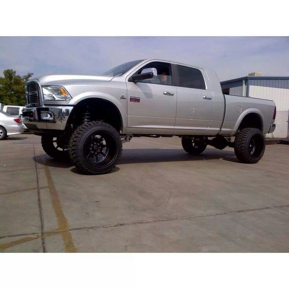 2014 Lifted Ram Mega Cab 2500: Silver Colour Lifted Dodge Ram