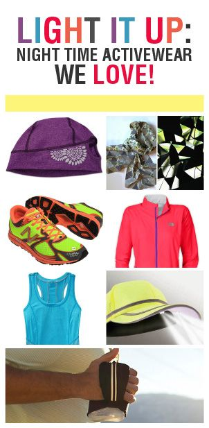 If you love to run at nighttime but want to take better safety precautions, there are things you can buy to make sure everyone else can see you running your booty off.