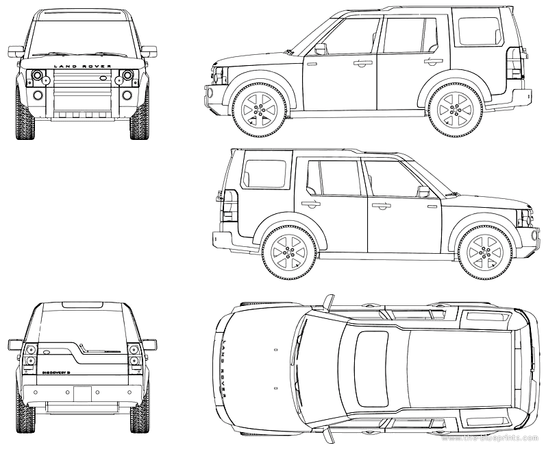 Land Rover Discovery Drawings