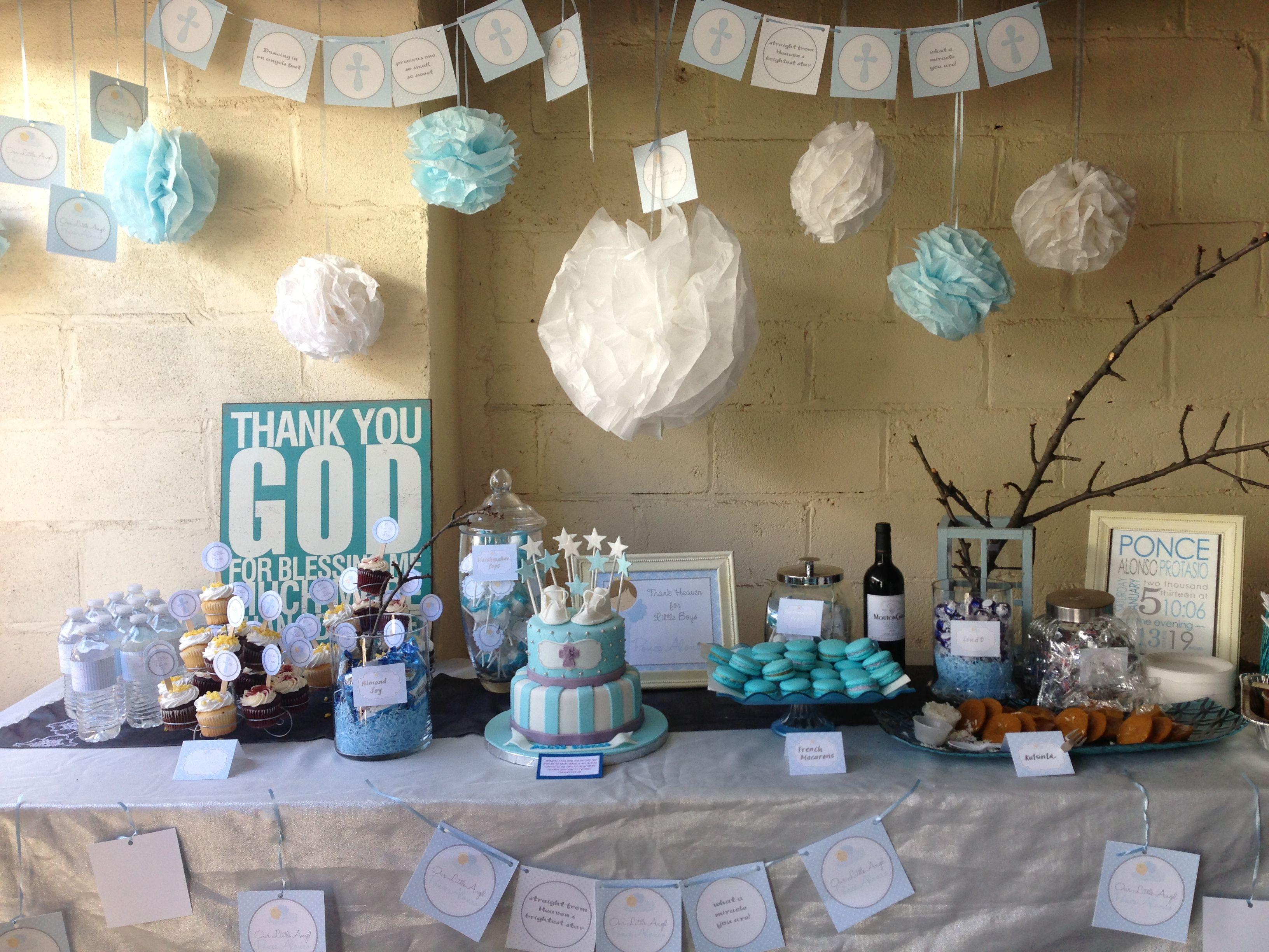 Ponce s baptismal rustic dessert table life
