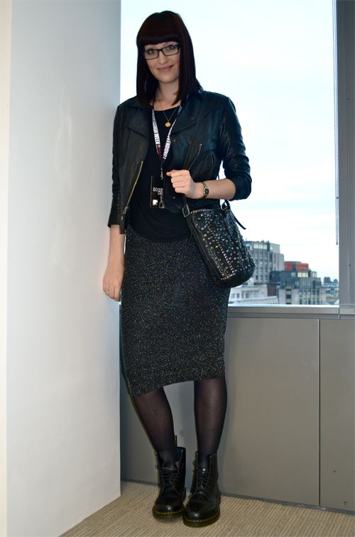 Love The Doc Martens With The Pencil Skirt.