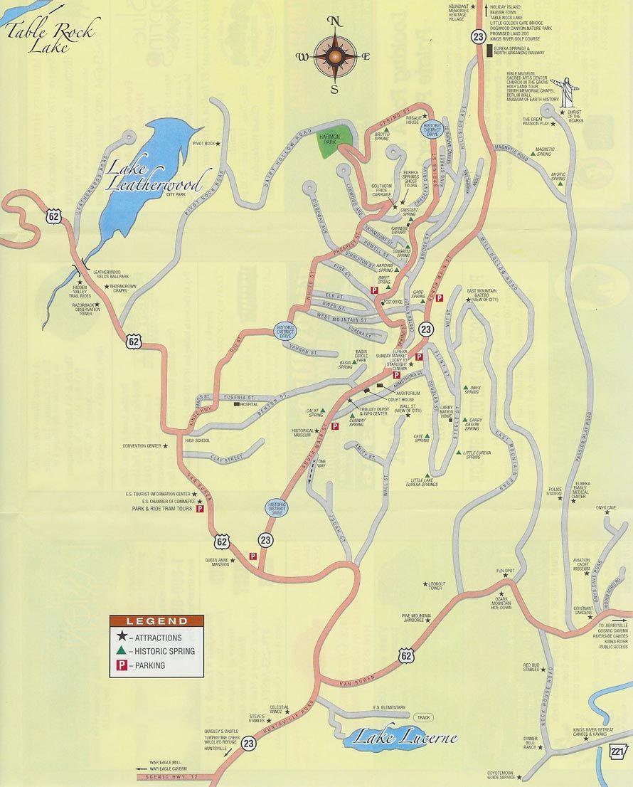 Map Of Eureka Springs Arkansas Eureka Springs Eureka Springs