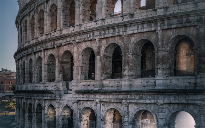 Download Wallpapers Colosseum Amphitheater Rome Italy