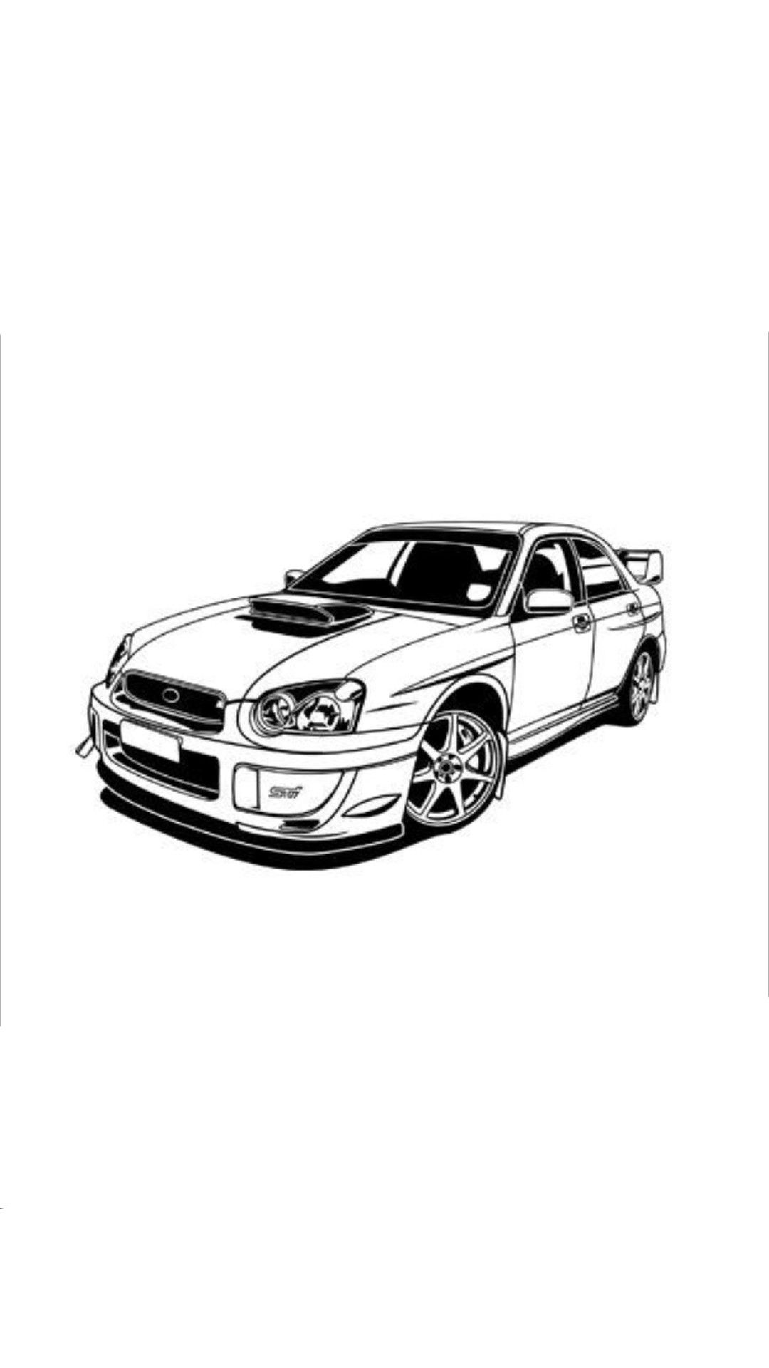 Jdm Cars Outline