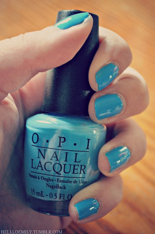 aqua blue nail polish opi #