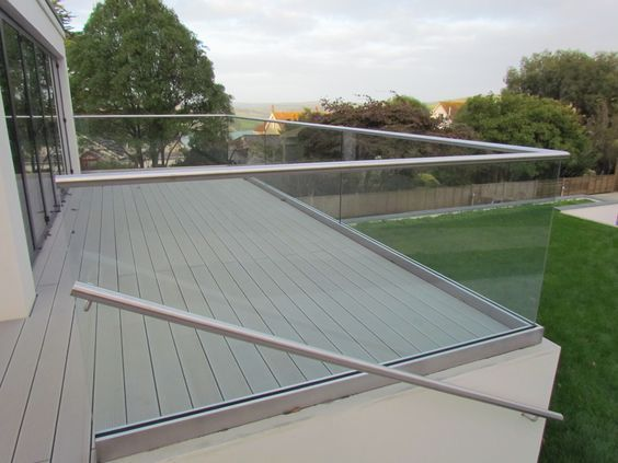 glass balustrade - Google Search barandas Pinterest