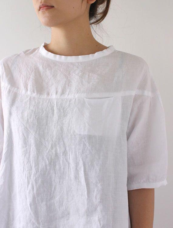 Blouse with pocket #linen | Style to steal | Pinterest | Stil und Nähen