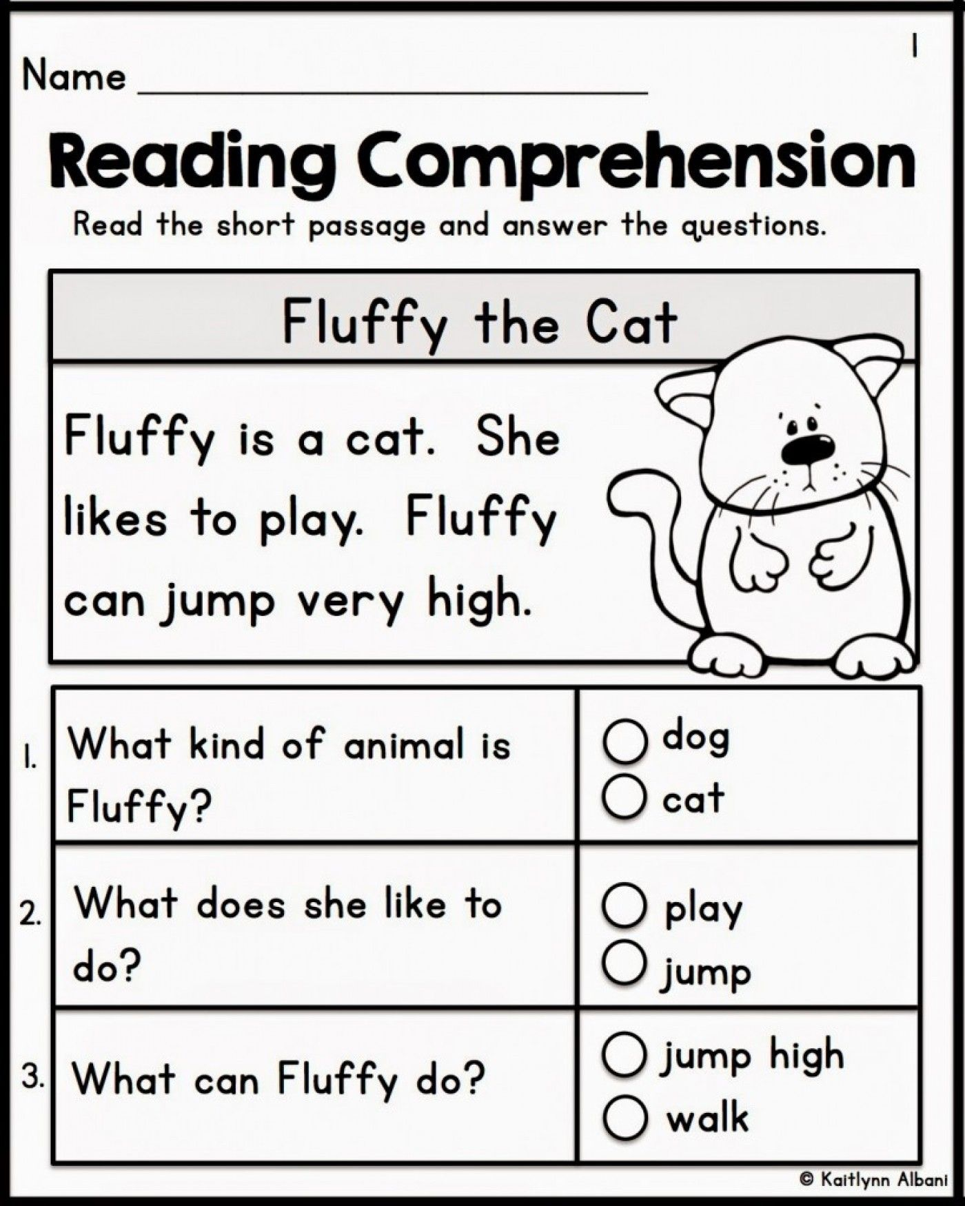 12 Best Of Free Printable Reading Comprehension Worksheets