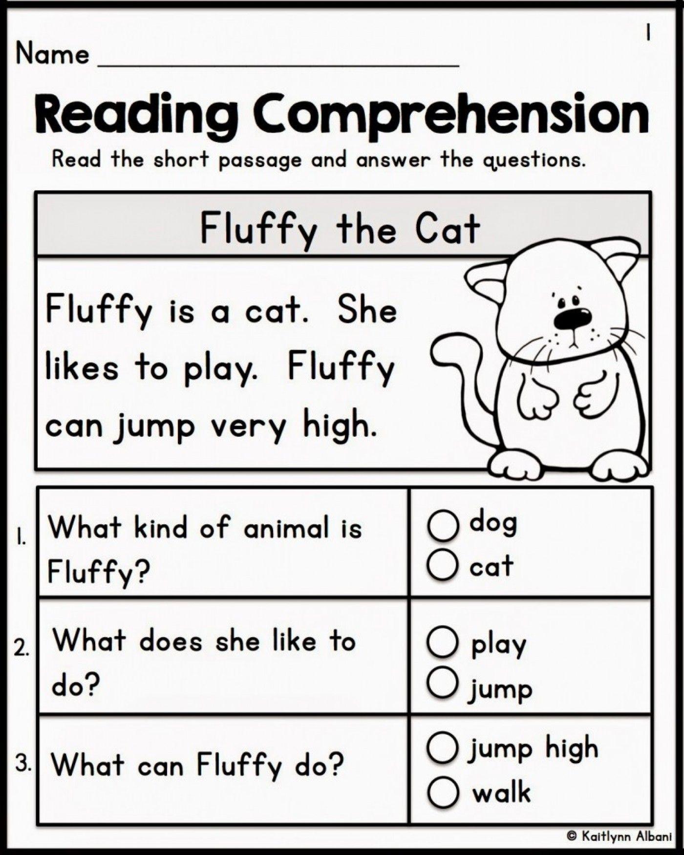 - 12 Best Of Free Printable Reading Comprehension Worksheets For 1st