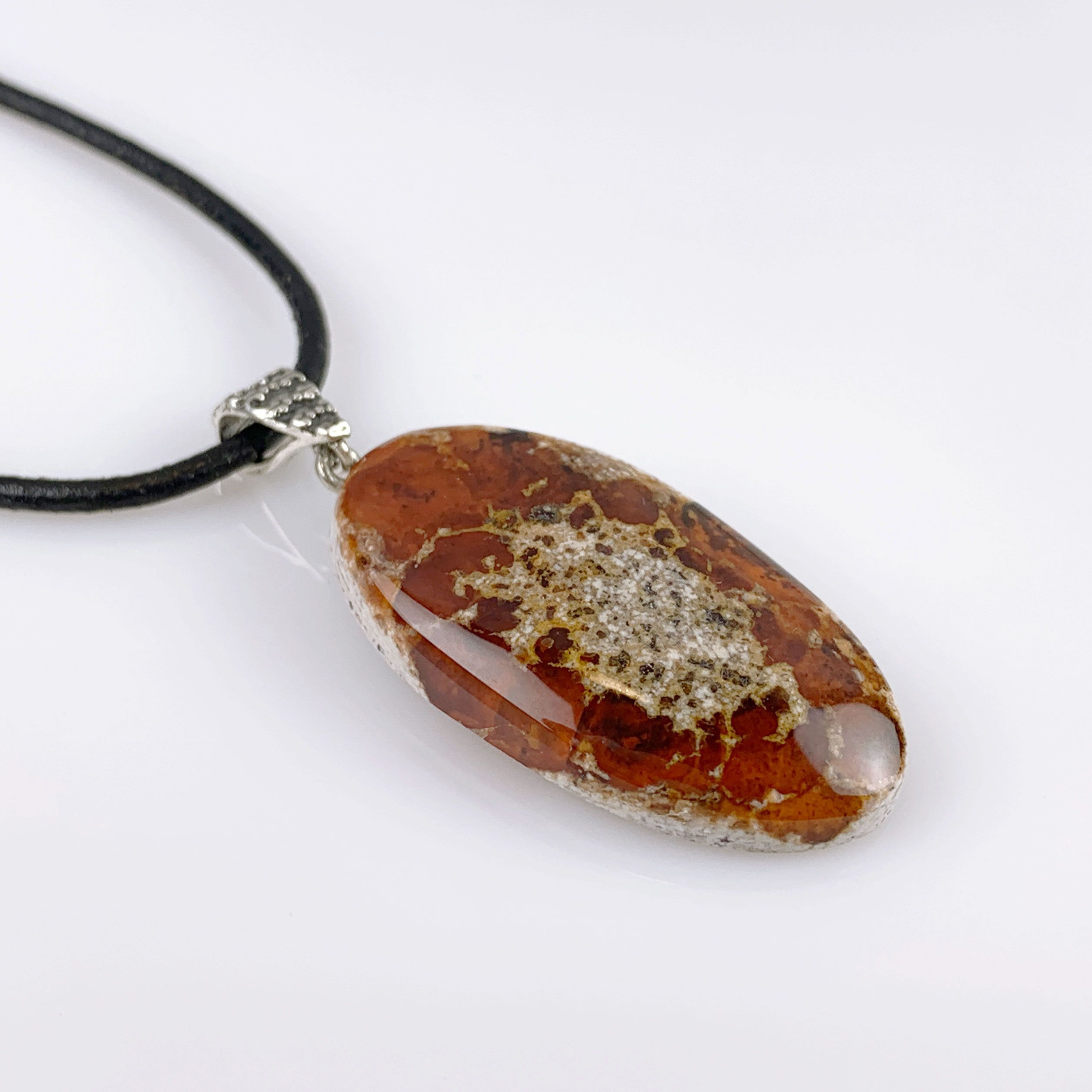 Mexican fire opal pendant. October Birthday and 14th and
