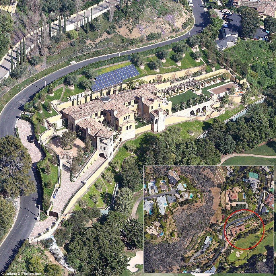 Pictured: Elon Musk's massive five property compound in Los