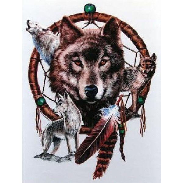Native American Dreamcatcher Spirit Wolf Spiritual Symbol Ladies Tee Shirt T
