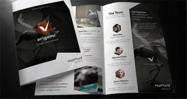 Brosur perusahaan untuk company profile Brochure  Pamphlet - sample bi fold brochure