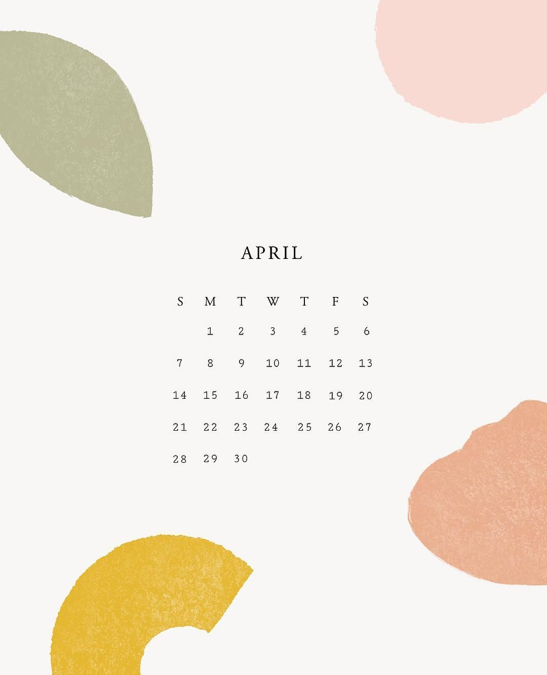 April Calendar Wallpapers By Minna So Graphic Design Calendar Calendar Design Calender Design