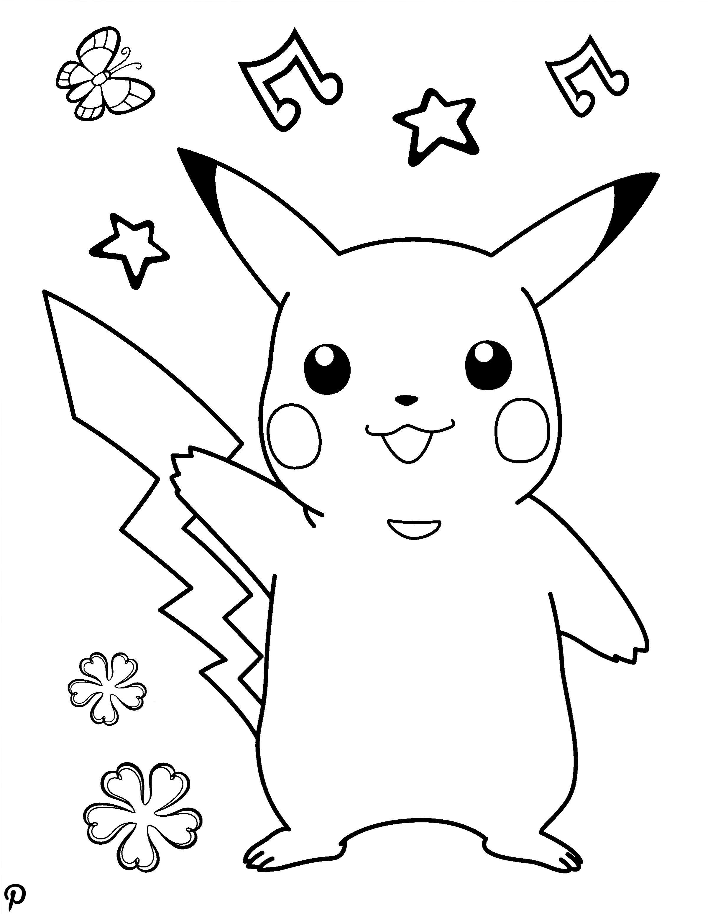 pikachu malvorlage zum ausdrucken  kinder ausmalbilder