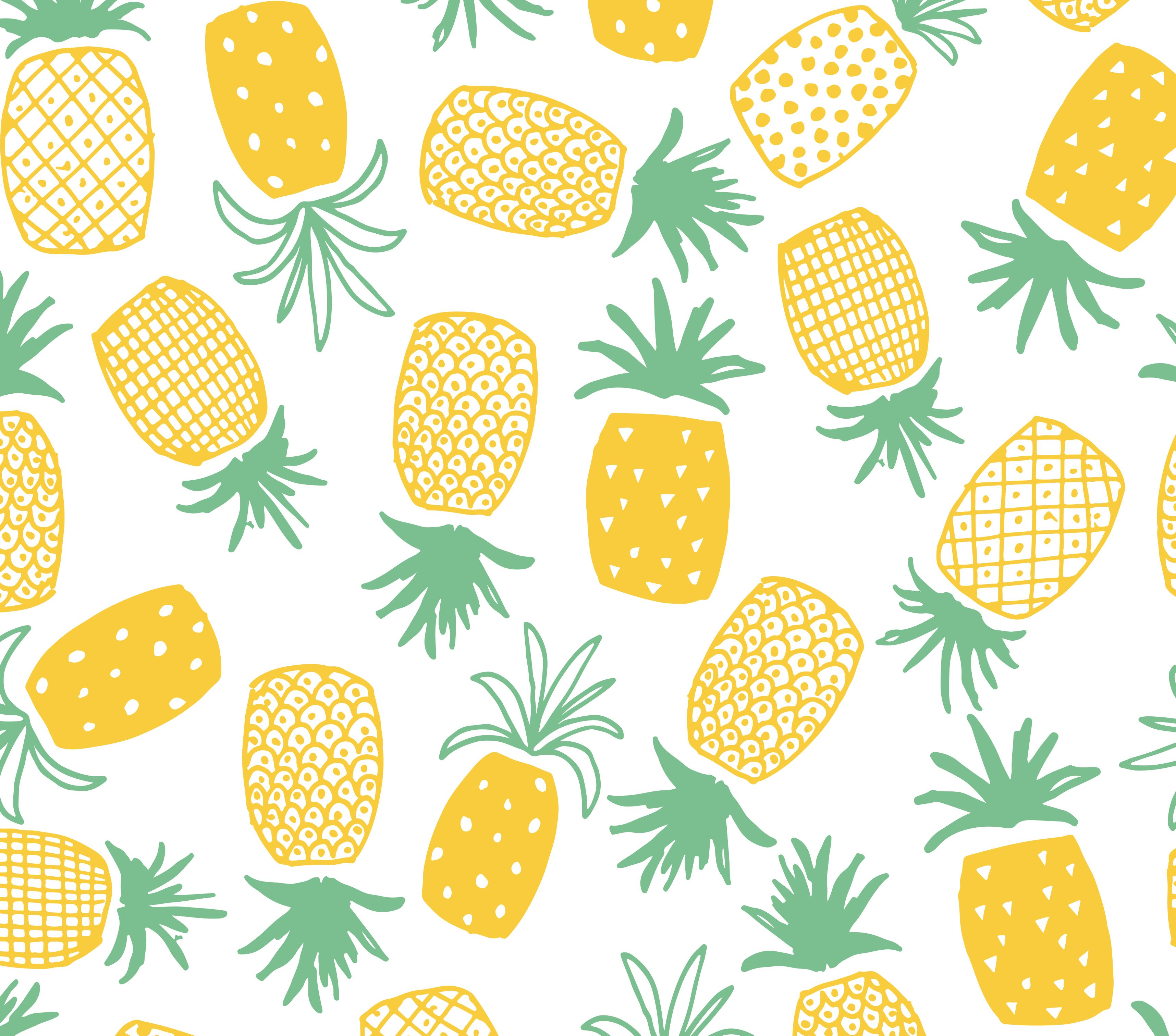 Pineapple Print Seamless Pattern Patterns Printing And
