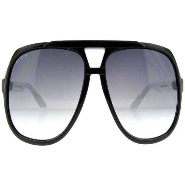 21bee17757bc6 Pre-owned Gucci Gg 1622 s Ovf Black white Gg1622 s Unisex Aviator ...
