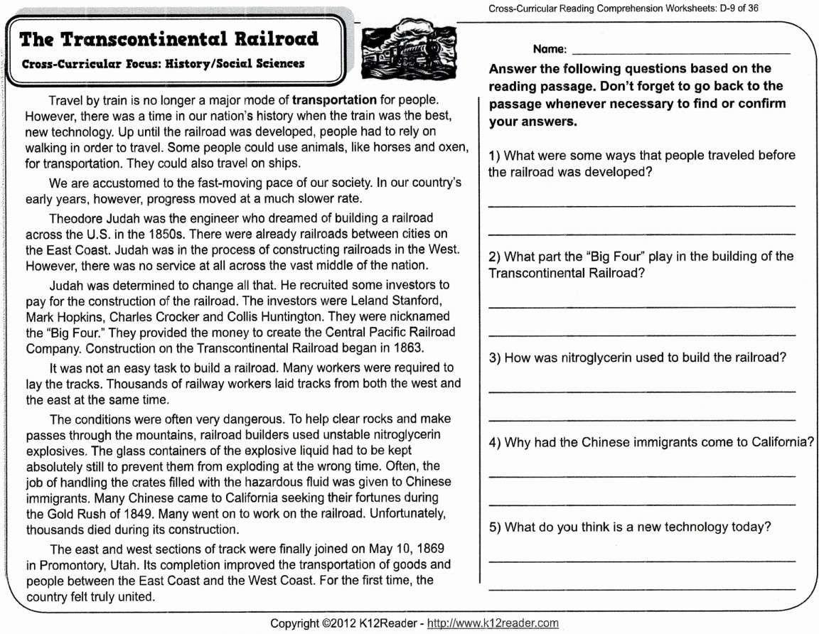 7 Reading Comprehension Grade 8 Worksheet