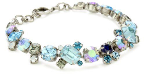 "Sorrelli ""Salt Water"" Glittering Multi-Crystal Silver-Tone Bracelet Sorrelli. $95.00. A polishing cloth will keep the metal from oxidizing over time.  Store in a dry place. Made in China. To keep your jewelry looking its best, clean it periodically with a mild soap and water. Hand crafted from genuine semi-precious stones and high quality Austrian crystals. The Sorrelli vision, to create beautiful jewelry and bring enjoyment to those who wear it, continues today"
