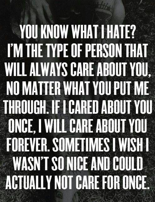 Wish I wasn't so nice