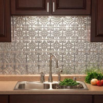 Home Depot Decorative Tile Fasade 24 Inx 18 Intraditional 1 Pvc Decorative Backsplash
