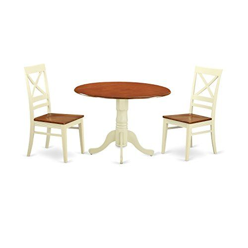 3 piece dinette set black east west furniture dlqu3bmkw piece dinette table and dining room chairs home luxury pinterest restoration farmhouse style