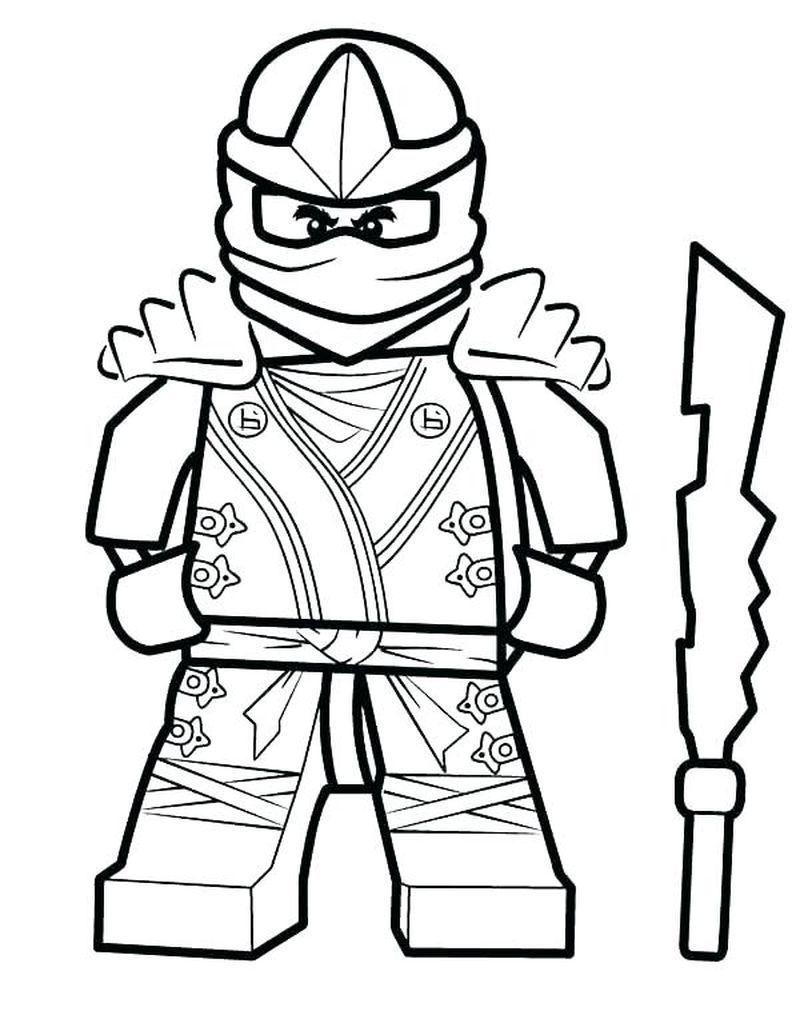 5 Free Ninjago Coloring Pages Printable Ninja Warrior Coloring