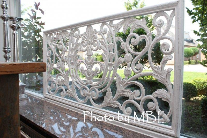 Landelijk raam wand decoratie paneel wit sier for Decoratie raam