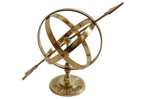 Brass Armillary Sphere on OneKingsLane.com