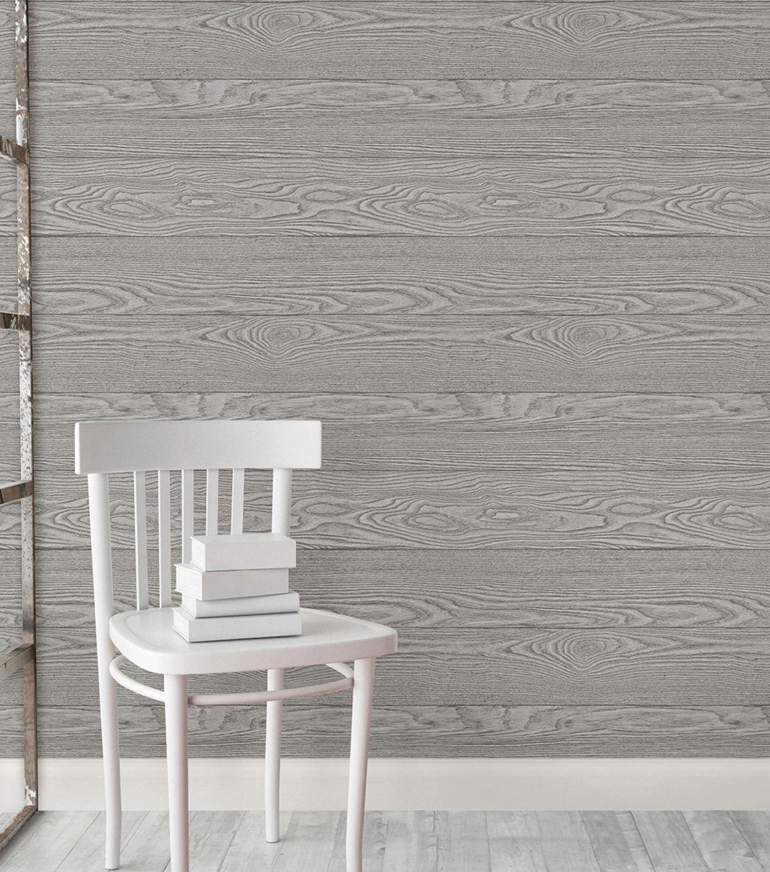 Wallpops Nuwallpaper Peel Stick Wallpaper Salvaged Wood Joann Wood Wallpaper Wood Feature Wall Farmhouse Wallpaper