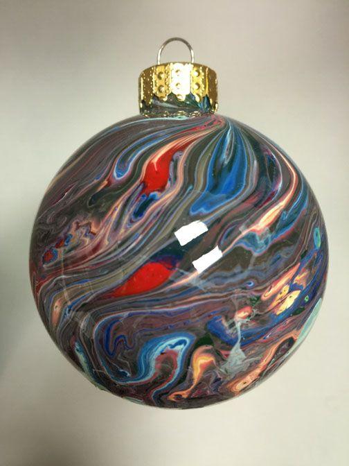 "2.6"" Artistically painted glass ornament, Unique gift Idea"