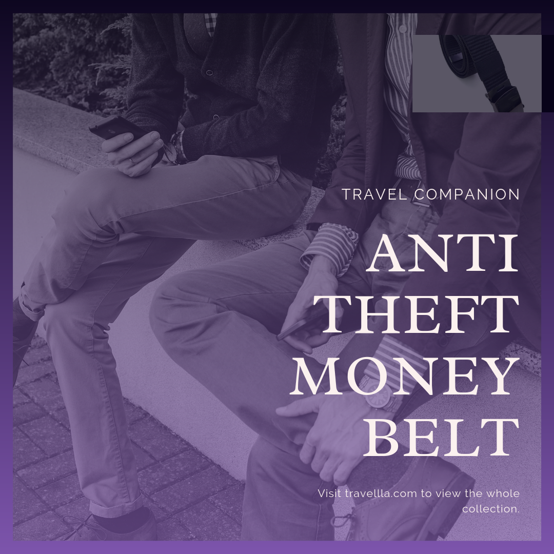 Travel Companion: Anti Theft Belt #importantdocuments This convenient ainti-theft Money Belt looks, feels and works just like a regular belt. The only difference is that it has a secret zippered pocket in which you can store important documents and cash. Keep your valuables safe and stay in style.  Concealed zippered pocket hides money and other valuable documents that you can fold.  Brushed metal effect and quick release so you can quickly take it off to go through airplane terminal security. #importantdocuments