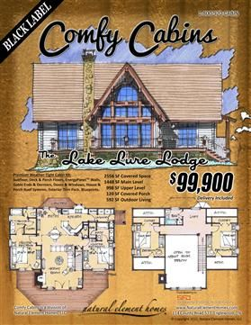 comfy cabin kits floor plans pinterest lakes cabin