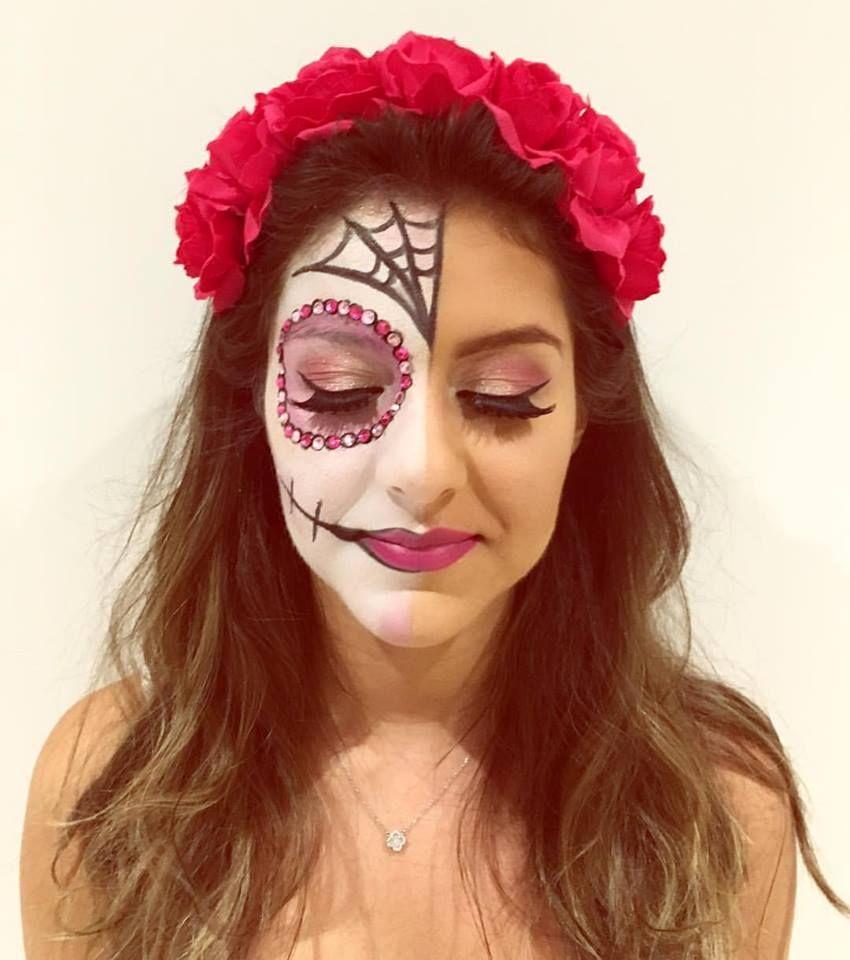 Cute Skull Face Makeup - Mugeek Vidalondon