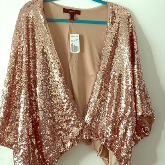 Sequin rose gold jacket Boutique | Gold jacket, Sequins and 21st