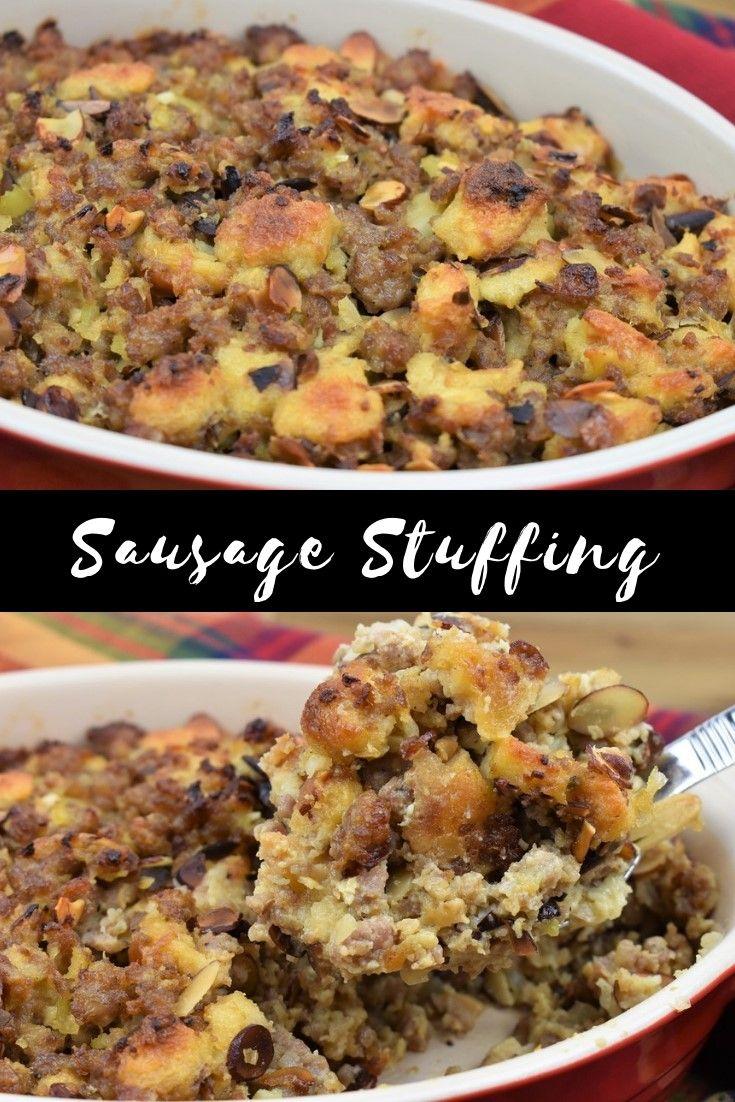 Sausage Stuffing #stuffingrecipes