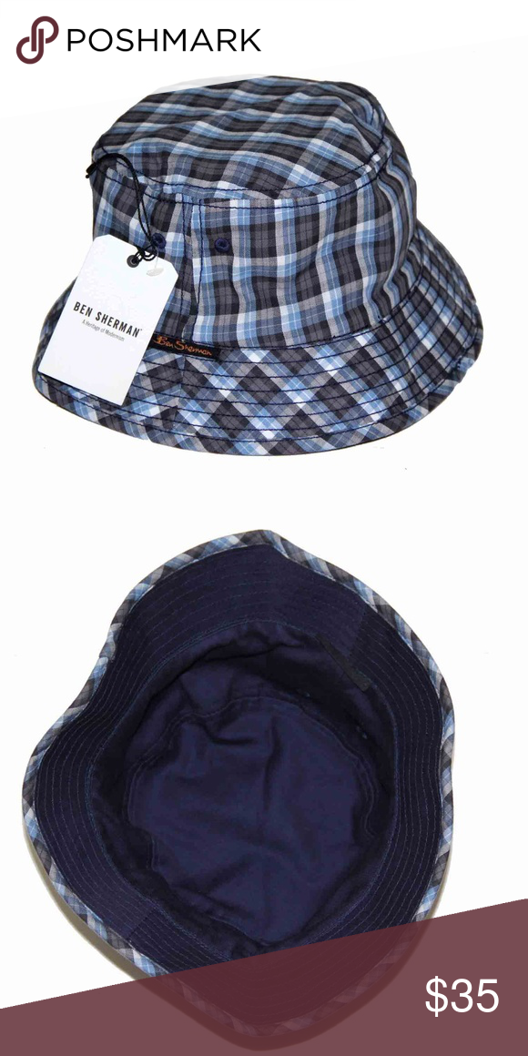 Mens Ben Sherman Plaid Bucket Hat Size S M Men s brand new 4ce6c526fe1