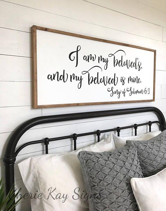 Master Bedroom Sign I Am My Beloveds Bedroom Wall Decor | H O M E |  Pinterest