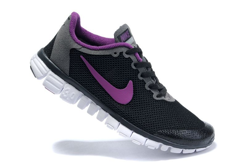 Nike Free 3.0 V2 Womens Running Shoes Black Grey Pink White 82.99