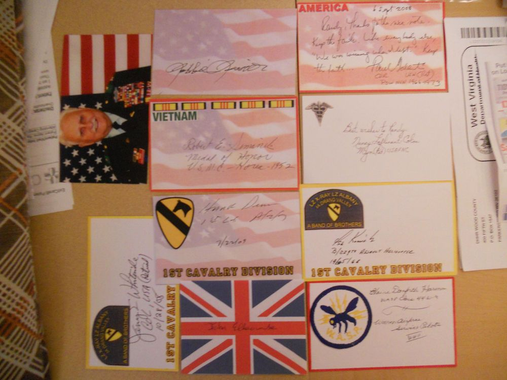 10 DIFF  MISC  MISC AUTOGRAPHS/SIGNED INDEX CARDS-LOT 2