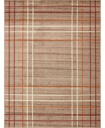 Bridgeport Home Jasia Jas13 Light Brown 9' x 12' Area Rug - Light Brow