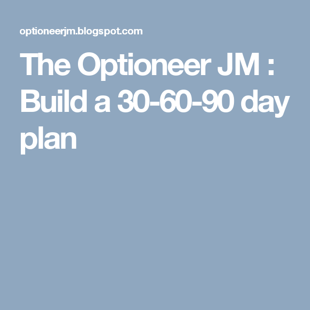 The Optioneer Jm  Build A  Day Plan  Business