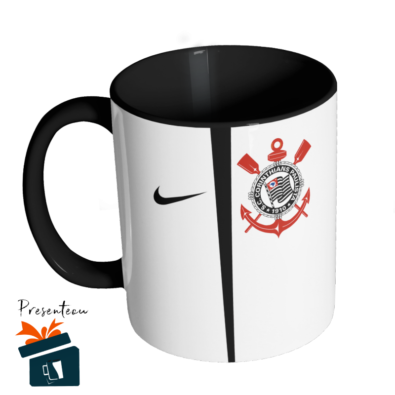 Caneca Camisa Corinthians - Fé Alvinegra Branca - 2017 sem Patrocínio e4bc50afb01f7