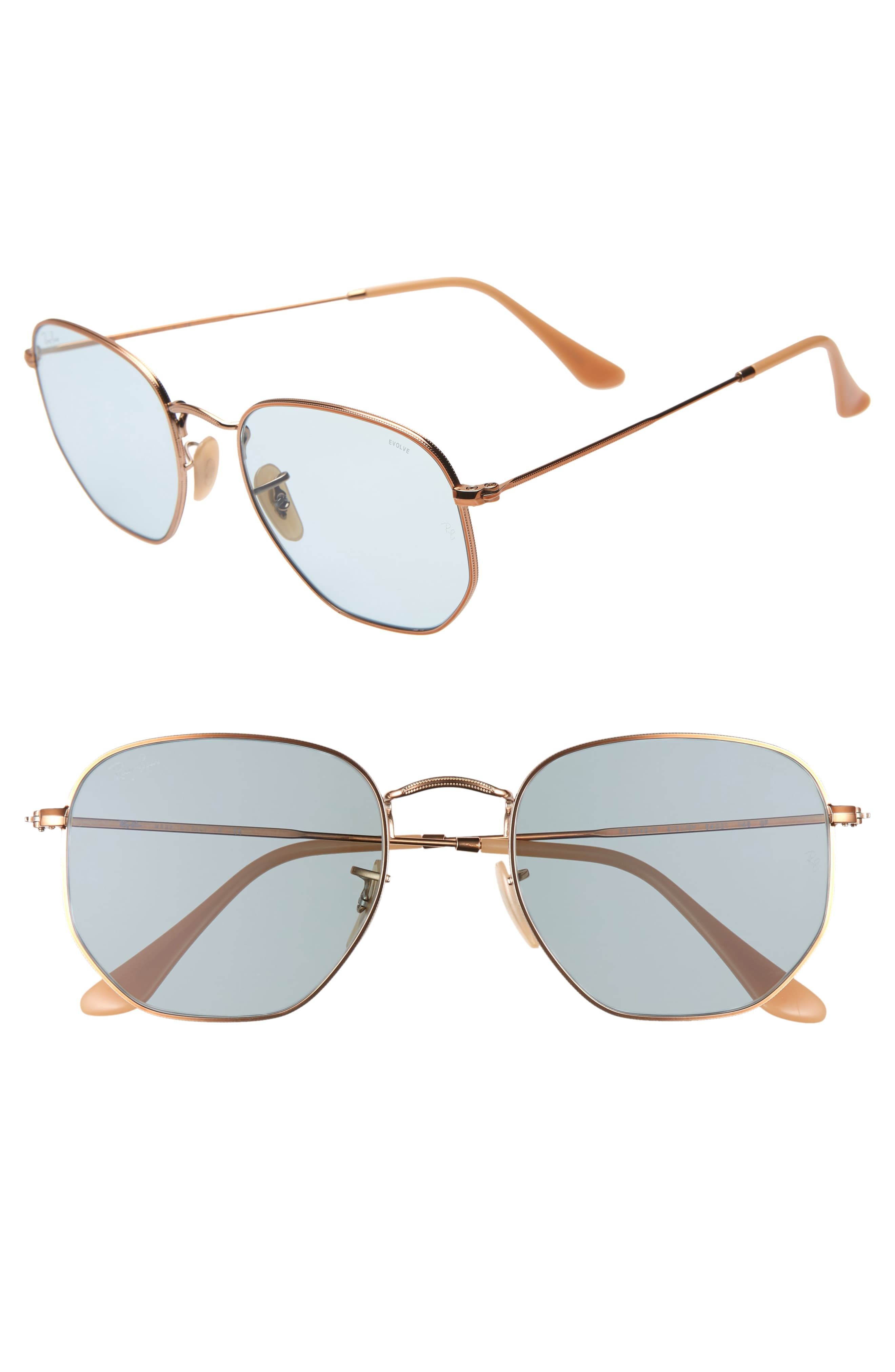 cf5507f953b Women's Ray-Ban 54Mm Evolve Photochromic Hexagon Sunglasses - Gold ...