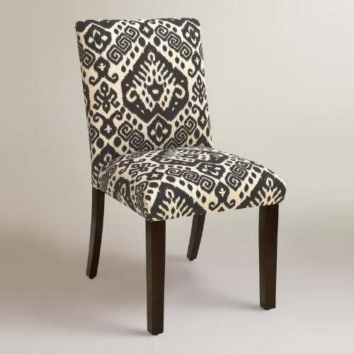 One of my favorite discoveries at WorldMarket.com: Charcoal Safi Kerri Upholstered Dining Chair  $250