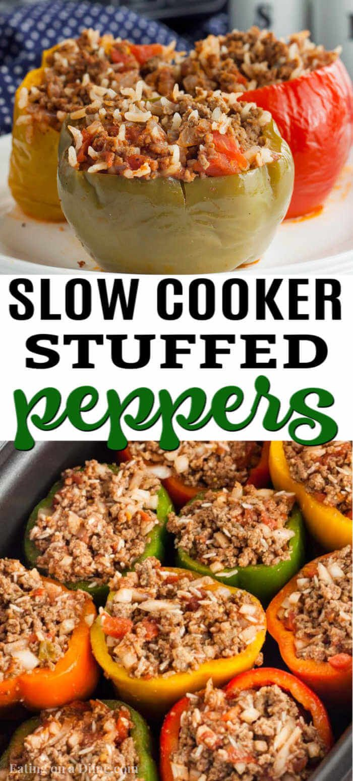 Crock Pot Stuffed Peppers Recipe - stuffed peppers crock pot recipe