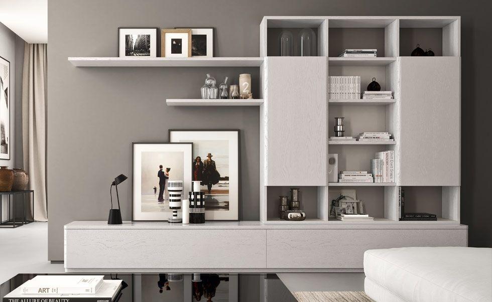 Composizione14 interior design arredamento salotto for Armadi da soggiorno